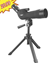 Emarth 20-60x60mm Porro Prism Spotting Scope with Camera Tripod, 45-Degree Angled Big Eyepiece,Waterproof Fogproof Spotter Scope for Target Shooting Bird Watching Archery Wildlife Scenery