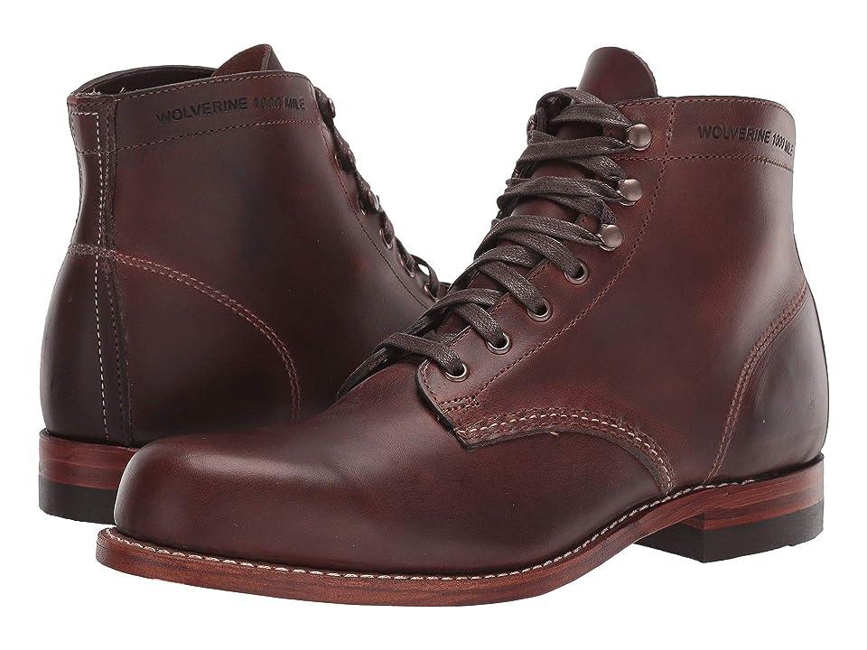 Wolverine Heritage Original 1000 Mile 6 Boot (Brown Leather) Men