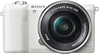 Sony ILCE-5100 - Cámara EVIL de 24.7 Mp ( pantalla 3 estabilizador óptico vídeo Full HD ) color blanco - Kit cuerpo cámara con objetivo E PZ 16-50 mm f/3.5-5.6