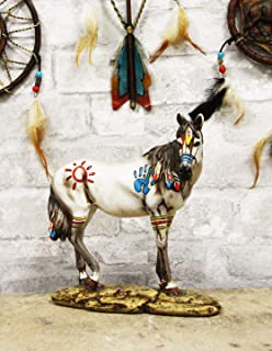 Ebros Equestrian Tribal Beauty Medicine Spirit Horse Hand Crafted Statue 8