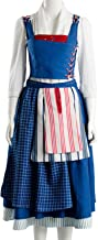 SIDNOR Beauty and The Beast Cosplay Costume Belle Dress Ball Gown Party Dress Up Suit Outfit Version