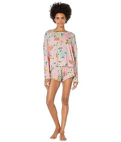 Plush Ultra Soft Floral Pajama Set