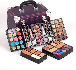 Duer Lika Portable Professional Mixed Beauty Makeup Kits Cosmetic Case Set Matte Shimmer Eyeshadow Palette Blushes Lip Mak...