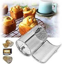 Cestas Horno, 12 * 18 cm de Acero Inoxidable for Hornear Horno for Hornear la Carne Asada de Rotary Nueces Frijoles de maní Cesta Barbacoa Grill