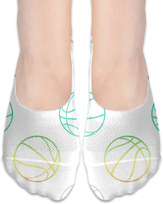 No Show Socks Women Men For Rainbow Basketball Flats Cotton Ultra Low Cut Liner Socks Non Slip