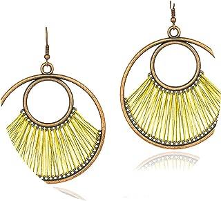 Statement Big Water Drop Earring Female New Fashion Creative Colorful Cotton Handmade Earrings