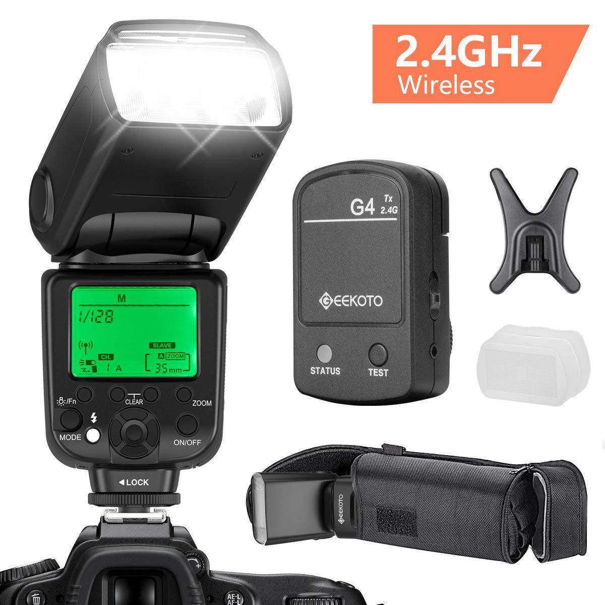 GEEKOTO Speedlite Cameras Wireless Professional