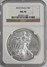2014 P American Silver Eagle $1 MS70 NGC