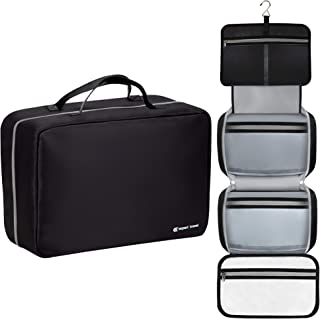 """The Biggest F'n Toiletry Bag On Amazon (42""""x14"""")   For Men and Women   Leak Proof   Clear Pockets   Detachable Compartment..."""