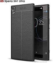 Cocomii Ultimate Armor Sony Xperia XA1 Ultra Case New [Heavy Duty] Premium Tactical Leather Pattern Grip Slim Fit Shockproof Bumper [Military Defender] Cover for Sony Xperia XA1 Ultra (Ul.Black)