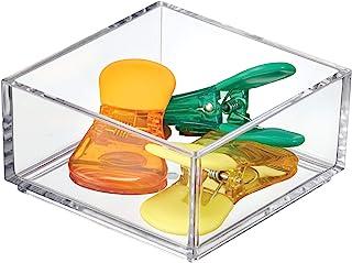 iDesign Cubertero para cajón, organizador de cajones extrapequeño de plástico, separador de cajones para cubiertos y otros utensilios, transparente