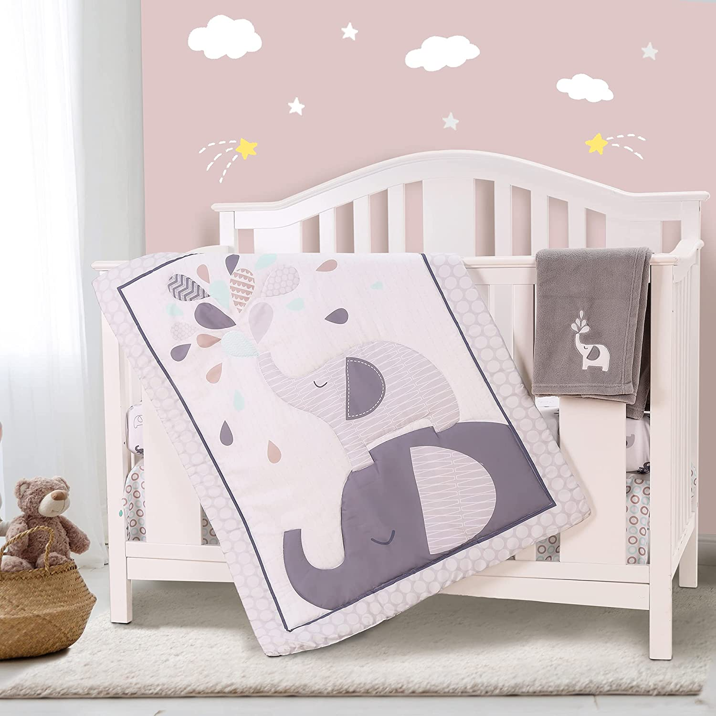 Honkaii Elephants Crib Bedding Sets for Boys 4 Girls SALENEW very popular! Popular products Pcs Baby