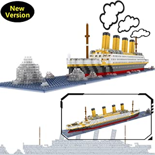 OneNext Titanic Model Building Block Set 1900pcs - Nano Mini Blocks DIY Toys(with Origin Package Box and Useful Tool)