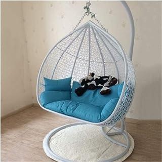 Cesta colgante Cojines para sillas con forma de huevo Cojín grande doble para colgar en forma de hamaca con forma de huevo Cojín para silla sin soporte Cojín para silla de columpio para patio Cojín p
