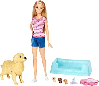 Barbie Newborn Pups Doll & Pets