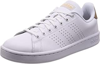 adidas Advantage W White Pale Gd Womens Sneakers Casuals Shoes