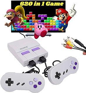 کنسول بازی 620 Retro ، سیستم بازی کلاسیک Mini NES با بازی های ویدیویی از پیش بارگذاری شده و 2 کنترلر کلاسیک NES ، پلاگین خروجی AV