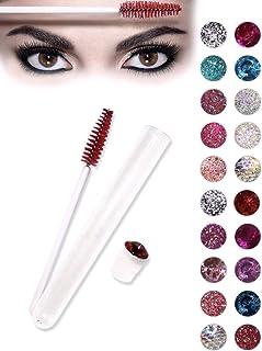 Eyelash brush - 20 pcs disposable eye lash wand and comb applicator in a tube - Make up tool for eyelash extension supplies