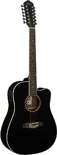 Oscar Schmidt OD312CEB-A-U 12-String Acoustic Electric Guitar. Black