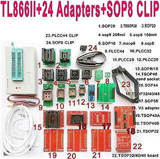 TL866II Plus USB プログラムプログラマー 24個のアダプター付き+ SOP8 Clip 1.8V Nand Flash 24 93 25 mcu Bios EPROM AVR eprom ユニバーサルプログラマキット高速プログラ...