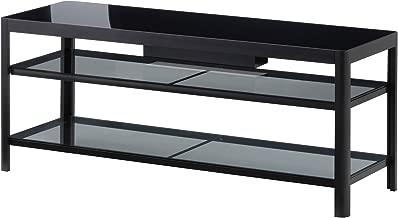 GETTORP TV Unit, Black, Black TV Stand Entertainment Media Center Theater Cabinet Storage