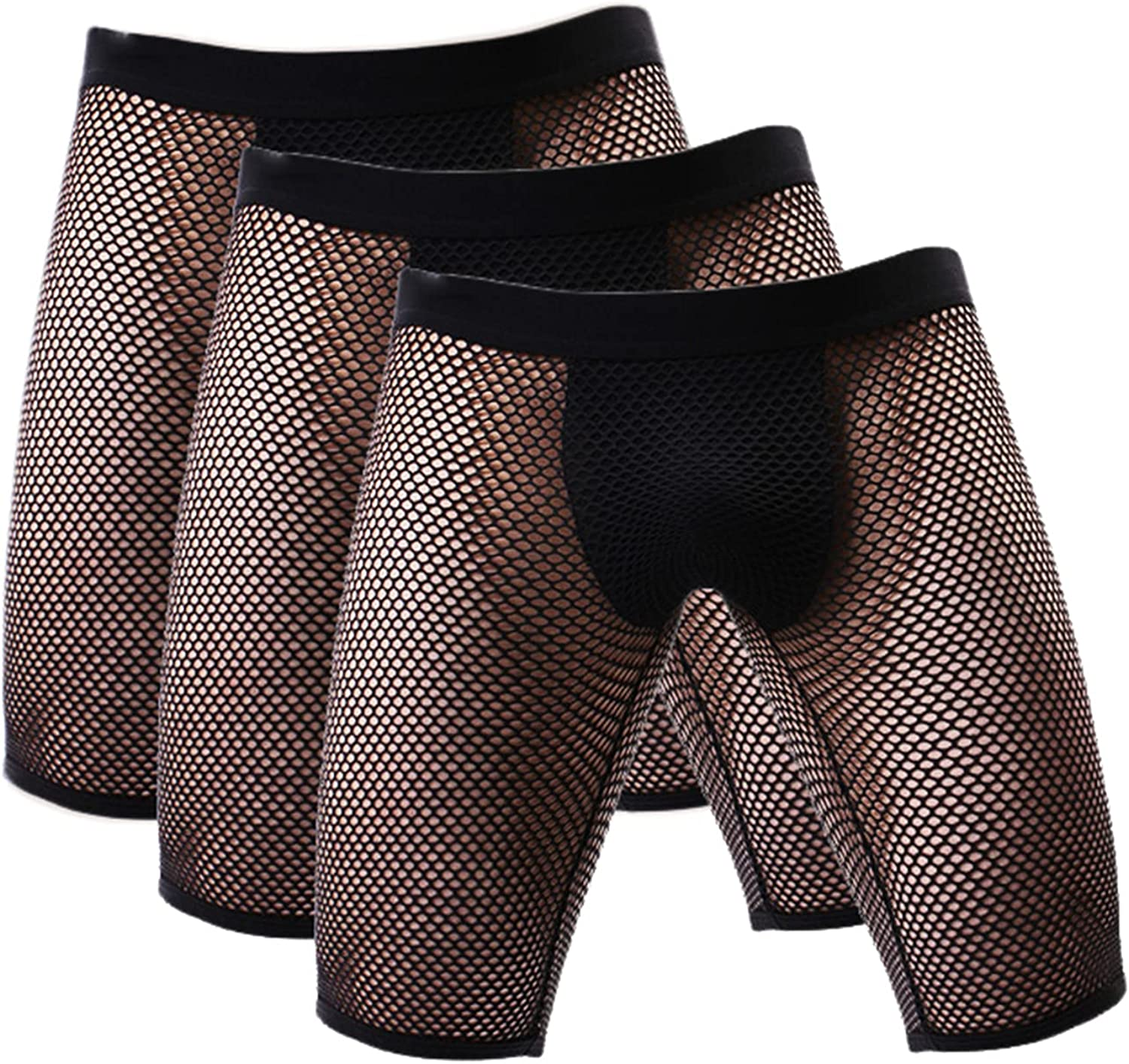 Andongnywell Mens Underwear Briefs 3 Pack Mesh Athletic Sports Boxer Briefs For Men No Fly Cool Supportive Underpants