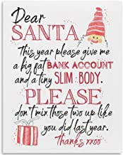Dear Santa This Year Please Give Me A Big Fat Bank Account - 11x14 Unframed Art Print - Makes a Great Gift Under $15 for Christmas Decor