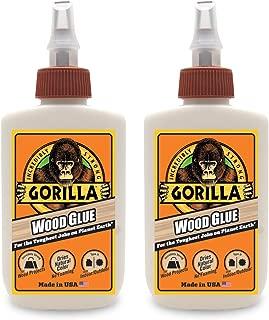 Gorilla Wood Glue, 4 ounce Bottle, (2 Pack)