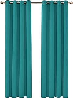 Deconovo Cortinas de Salon para Ventana Habitación con Aislamiento Térmico Anti Ruido 2 Paneles 140 x 245 cm Turquesa