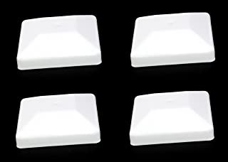 JSP Manufacturing 4X4 White Fence Post Plastic Cap - Pick a Pack (3 5/8 X 3 5/8) Fits 4 x 4 Nominal Fence Posts Wholesale/Bulk Pricing