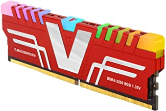 v-Color Prism RGB 8GB (1 x 8GB) DDR4 3200MHz (PC4-25600) CL16 1.35V Desktop Memory -Red (TL48G32S8RRGB16)