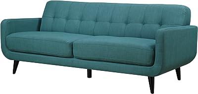 Amazon Com Rivet Sloane Mid Century Modern Sofa With