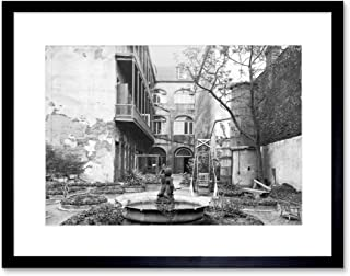 The Art Stop Vintage Photo Old French Courtyard New Orleans Louisiana Framed Print F12X4350