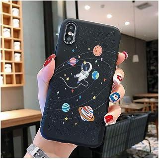 スマホケースiphone 5/6/7/8/X/XR/XS用かわいい月ライン柄シリコンカバーケース,For Iphone XR,I06