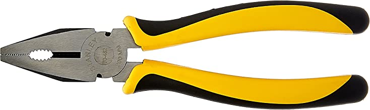 Stanley 70-482 Sturdy Steel Combination 8-Inch Pliers (Yellow and Black)