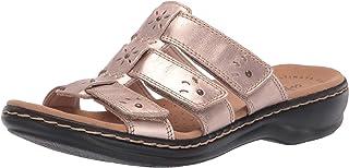 Clarks Women's Leisa Spring Sandal, Rose Gold Leather, 100 M US