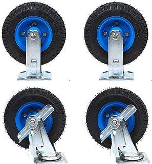 YJJT Vervangend wiel, verdikt opblaasbaar wiel, 6 inch, 8 inch, 10 inch, rubber draaiwiel, lagers, flexibele rotatie en gl...