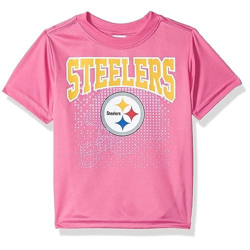 879edd622 NFL Pittsburgh Steelers Girls Short-Sleeve Tee, Pink, 3T