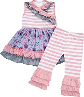 ezShe Little Girls V Neck Pleuche Stitching Ballet Dance Leotards