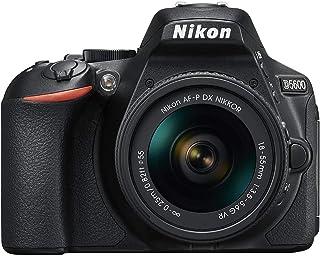 """Nikon D5600 - Kit de cámara réflex de 24.2 MP con objetivo AF-P DX 18 - 55 mm VR, pantalla táctil de 3"""", Full HD, color ne..."""