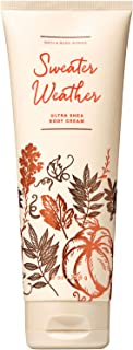 Bath and Body Works Sweater Weather Ultra Shea Body Cream 8 Ounce Fall 2019 Collection