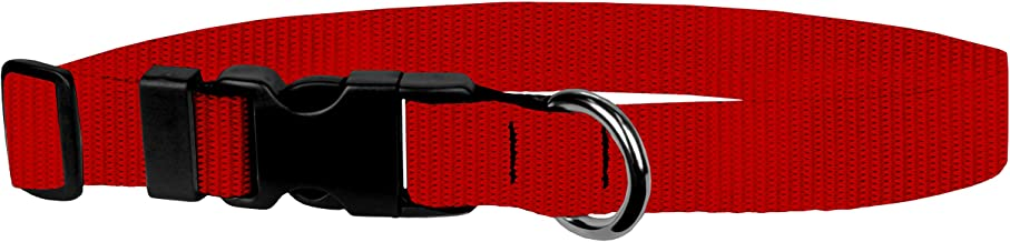 Moose Pet Wear Dog Collar - Adjustable Dog Collars, Made in the USA - ¾ or 1 Inch Size Collar, Small to Xlarge, Over 10 Colors