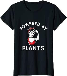 Powered By Plants Retro Women's Vegan Fitness T-Shirt