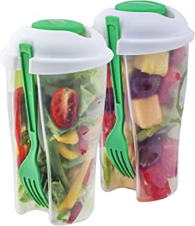Innovia Imports II-127 2 Pack Green salad to go, container,