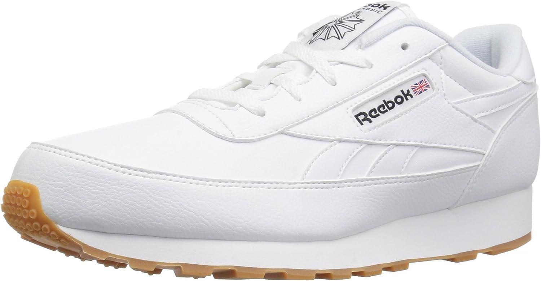 Reebok Men's Classic Renaissance Wide 4E Walking shoes White Black Gum, 7 US