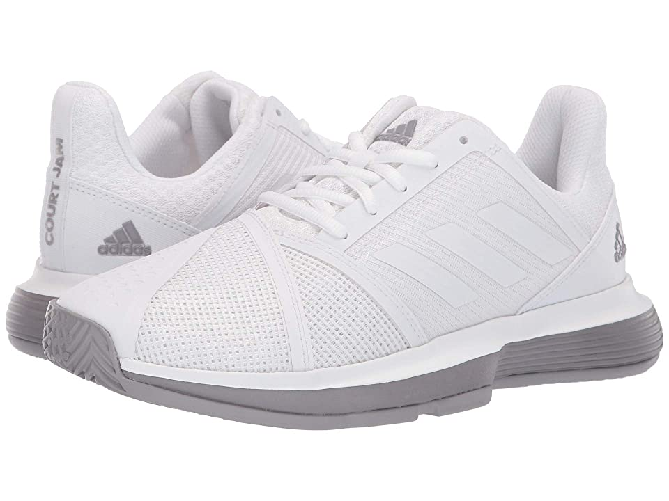 0f2c3039a4eb7 adidas CourtJam Bounce (Footwear White Footwear White Light Granite)  Women s Shoes