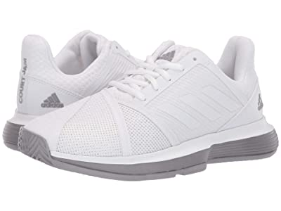 adidas CourtJam Bounce (Footwear White/Footwear White/Light Granite) Women
