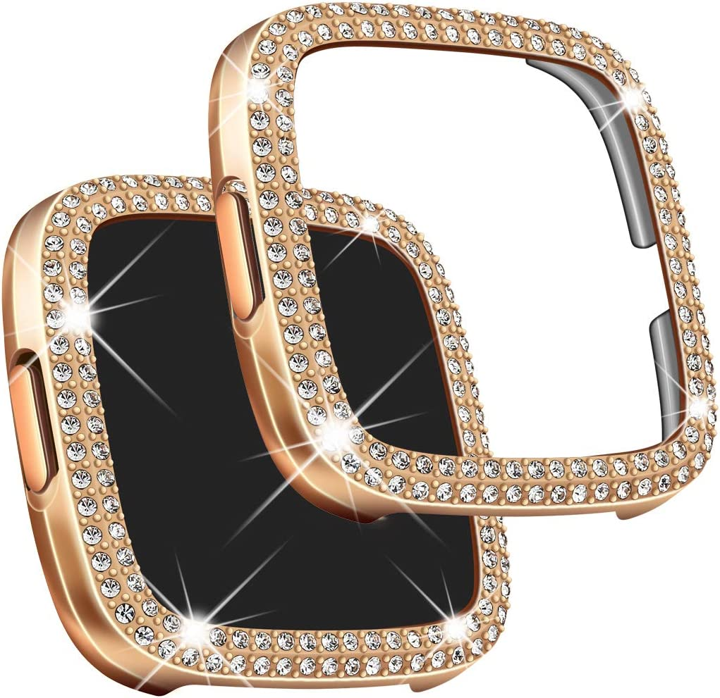 Falandi Compatible with Fitbit Versa 2 Case Bling Lowest price Max 62% OFF challenge Face Cr Cover