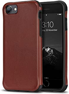 TENDLIN Compatible with iPhone SE 2020 Case/iPhone 7 Case/iPhone 8 Case [Protection Model] Premium Leather TPU Hybrid Case...