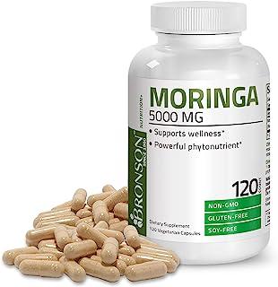 Moringa Oleifera 5000 mg Powder Capsules Extra High Potency 50:1 Extract Energizing Superfood Antioxidant, ...